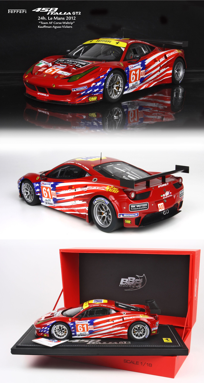 ferrari modelisme ferrari 1 18 bbr ferrari 458 italia gt2 le mans 2012 61 af corse 1 18. Black Bedroom Furniture Sets. Home Design Ideas