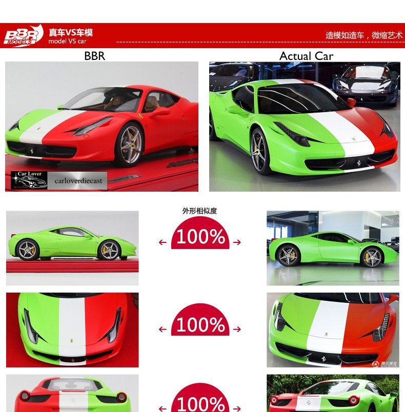 ferrari modelisme ferrari 1 18 bbr ferrari 458 italia italian flag socle rouge 80. Black Bedroom Furniture Sets. Home Design Ideas