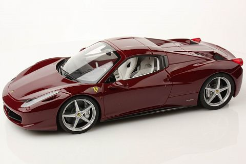 ferrari modelisme ferrari 1 18 mr models retour sur la ferrari 458 spider rosso mugello. Black Bedroom Furniture Sets. Home Design Ideas