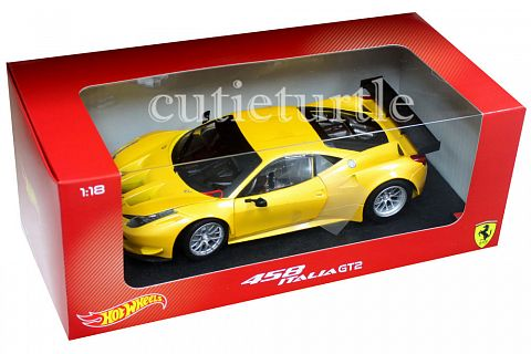 ferrari 458 italia gt2 hotwheels 1 18 ferrari modelisme ferrari 1 18. Black Bedroom Furniture Sets. Home Design Ideas